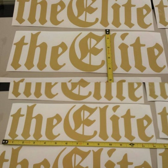 Image of The Elite 14''x4'' Vinyl GOLD Decal