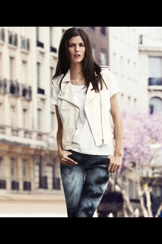 Image of Ivory Moto Vest