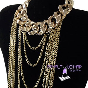 Image of Single Chunky Choker Body Chain