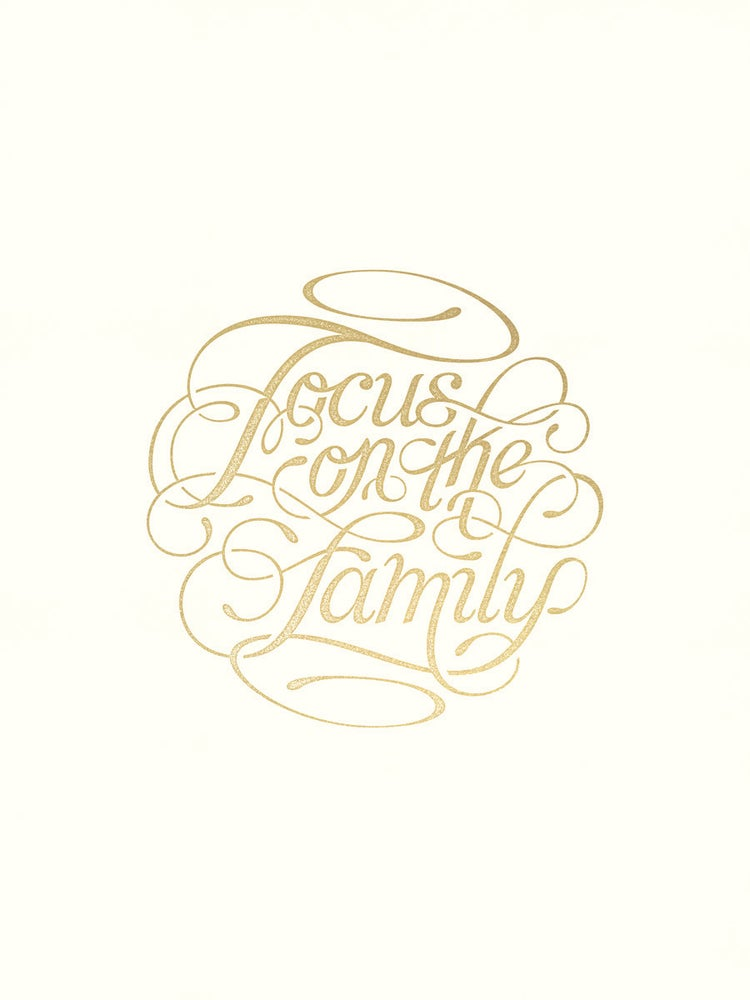Image of 'Focus on the Family' Gold - 18 x 24