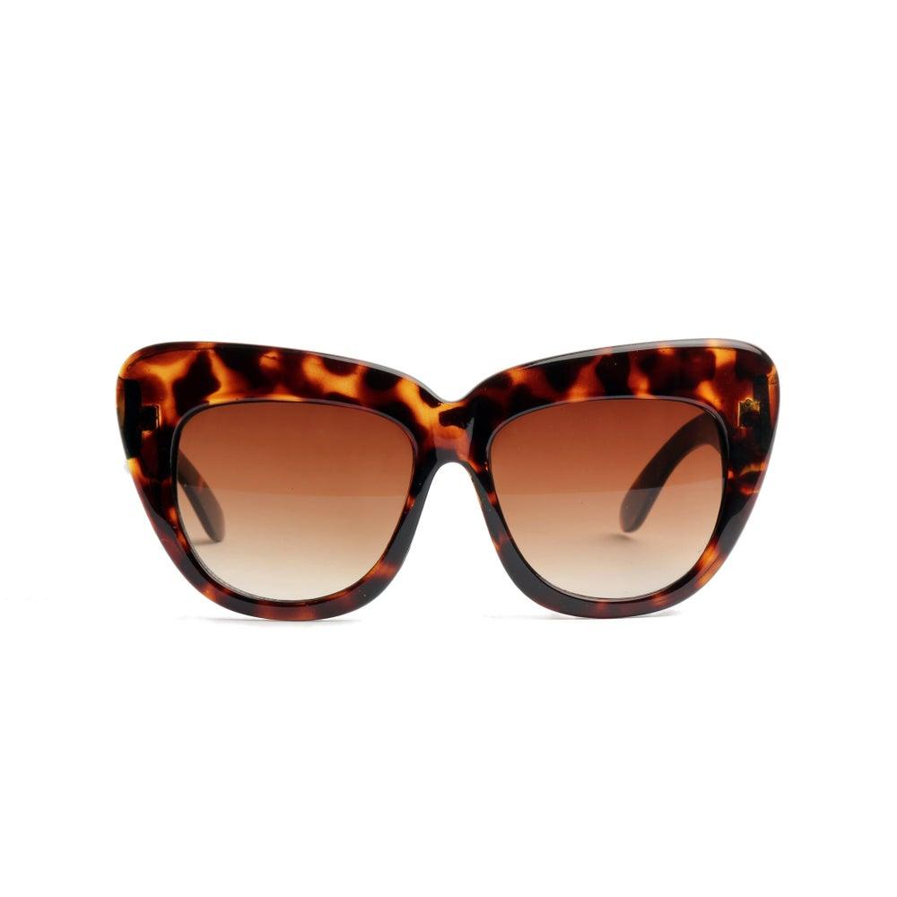 Image of Thick Tortoise Cat Eye Sunglasses