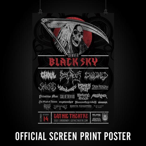 Image of Denver Black Sky Official Poster