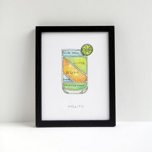 Mojito Cocktail Print by Alyson Thomas of Drywell Art. Available at shop.drywellart.com