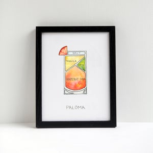 Paloma Cocktail Print by Alyson Thomas of Drywell Art. Available at shop.drywellart.com