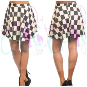 Image of Checkerboard skater skirt