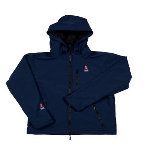 Image of ANTERO II GORETEX HYBRID ATLANTIC NAVY WATERPROOF BREATHABLE WINDPROOF JACKET MADE IN COLORADO