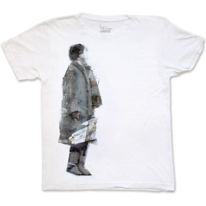 Image of WAITER #13 - men's white t-shirt