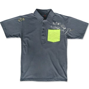 Image of CUBICLE - men's asphalt polo by Daniel Vigil