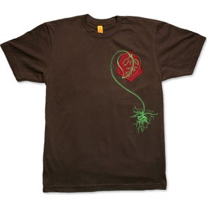Image of I ♥ NATURE - men's brown t-shirt with