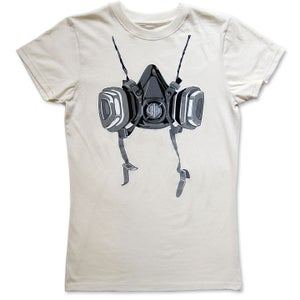Image of RESPIRATOR - women's natural t-shirt by Logan Hicks