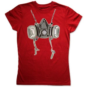 Image of RESPIRATOR - women's blood red t-shirt by Logan Hicks