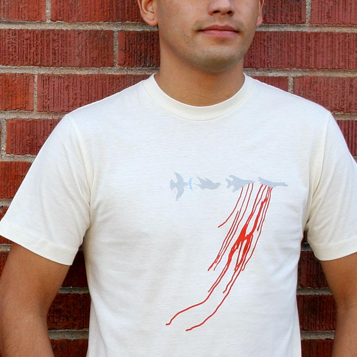 Image of DOVES -men's natural t-shirt by Dr. Bolick