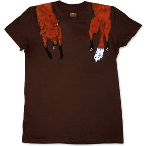 Image of FAUX FOXY - women's brown t-shirt