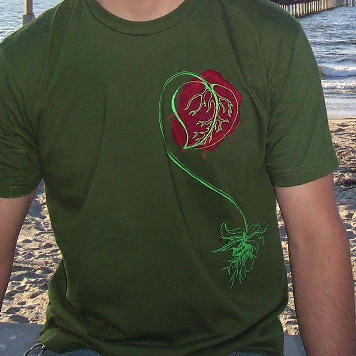 Image of I ♥ NATURE - men's olive t-shirt