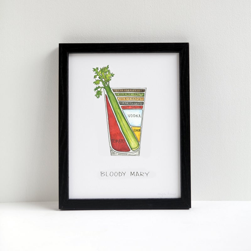 Image of Bloody Mary Cocktail Print