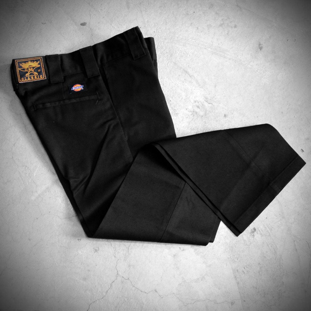 Image of WEIRD X DICKIES ( SLIM FIT ) 873 A  - BLACK