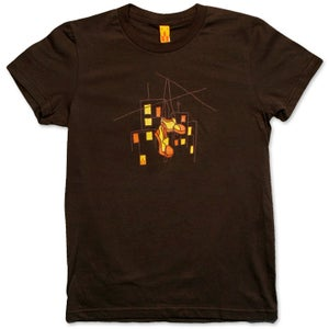 Image of HUNG SHOES - women's brown t-shirt
