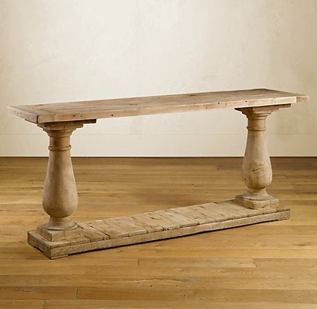 Marvelous Image Of BALUSTRADE SALVAGED WOOD CONSOLE TABLE
