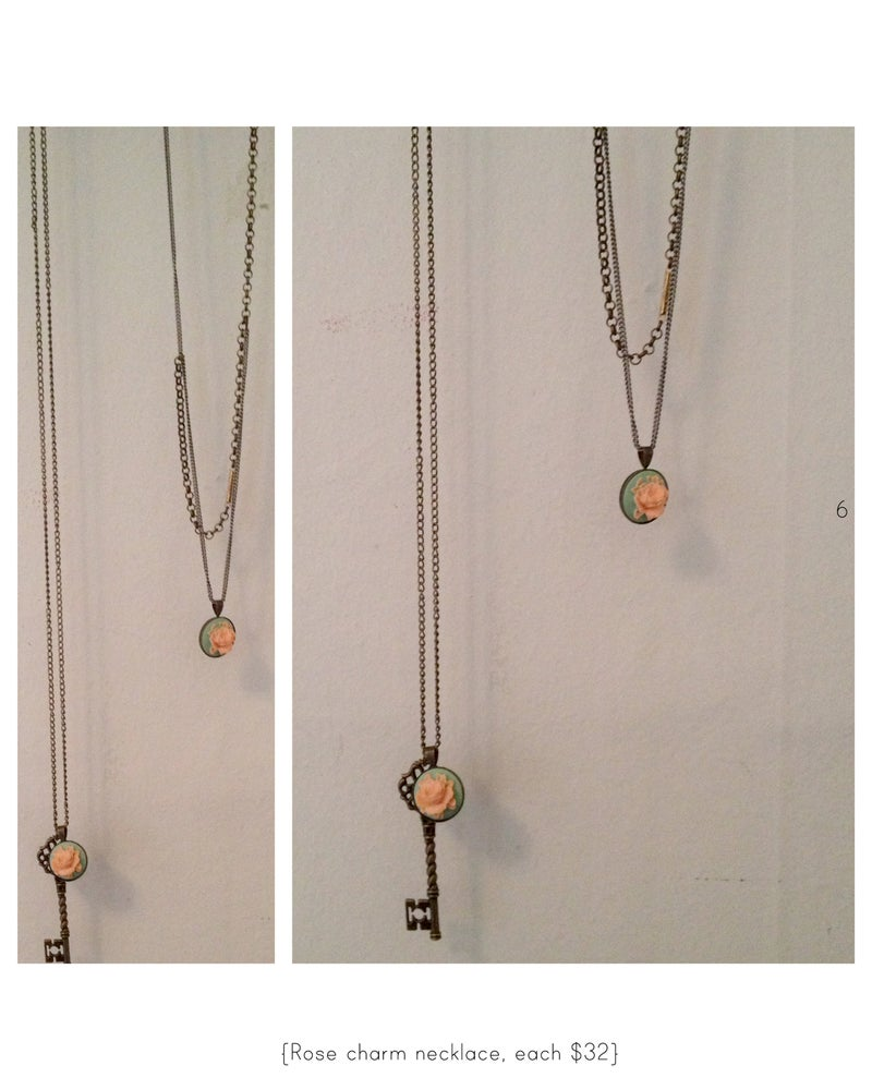 Image of Rose charm necklace