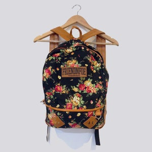 Image of The Black Floral Backpack
