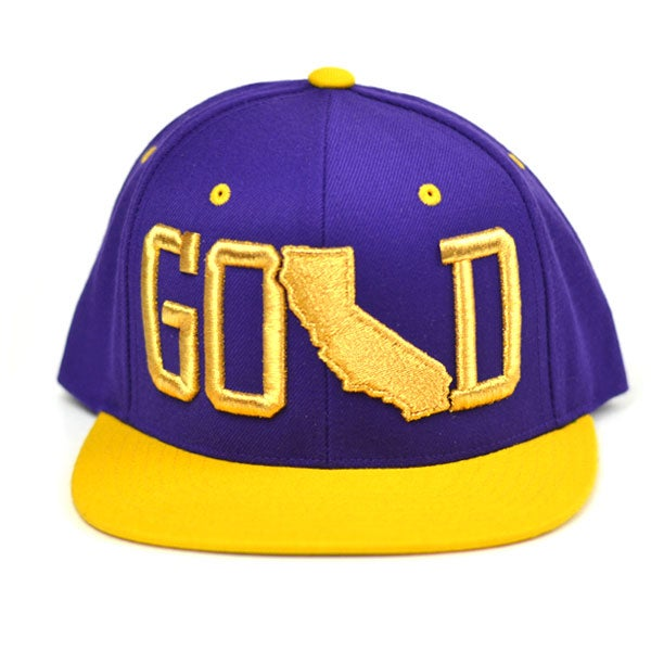 Image of GOLD PURPLE YELLOW SNAPBACK