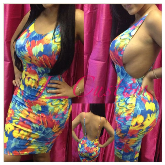 Image of Tropical Side Boob Dress