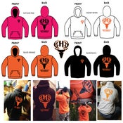 Image of Blind Black- Blaze Orange - Snow White - Hot Doe Pink -  Hoodies