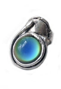 Image of ISA Ring; Sterling Silver, Aura (color-changing mood stone)