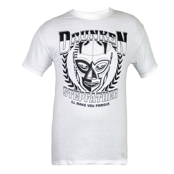 Image of Black on White Wrestling Mask Shirt