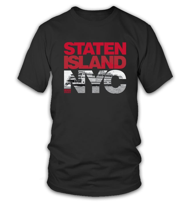Image of 2520 STATEN ISLAND NYC TEE - BLACK
