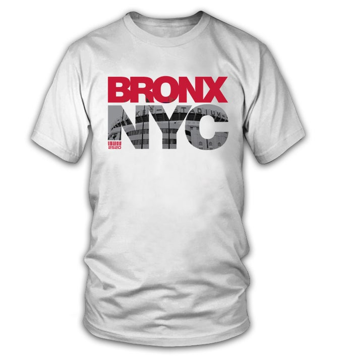 Image of 2520 BRONX NYC TEE - WHITE (Limited Edition)