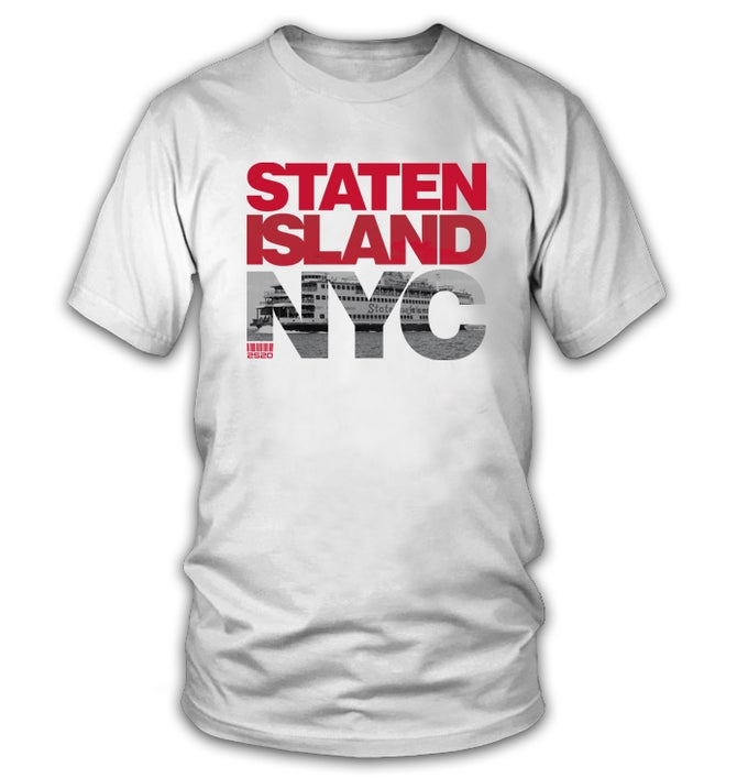 Image of 2520 STATEN ISLAND NYC TEE - WHITE (Limited Edition)