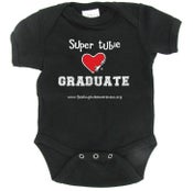 Image of Graduate - Super Tubie Graduate Infant One-piece - Black