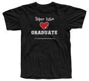 Image of Graduate - Super Tubie Graduate T-Shirt - Black