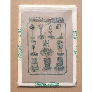 Image of Ten Lovely Letterboxes of Canberra Australia Tea Towel