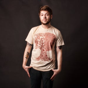 Image of Falling MEN'S 100% cotton creme American Apparel tee shirt