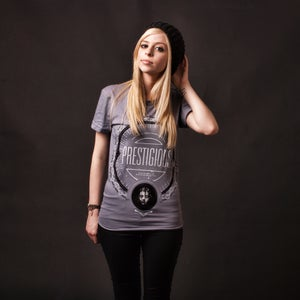 Image of Est. 2008 WOMEN'S - 100% cotton slate American Apparel tee shirt