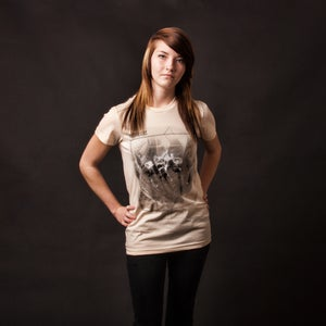 Image of Fixture WOMEN'S 100% cotton creme American Apparel tee shirt