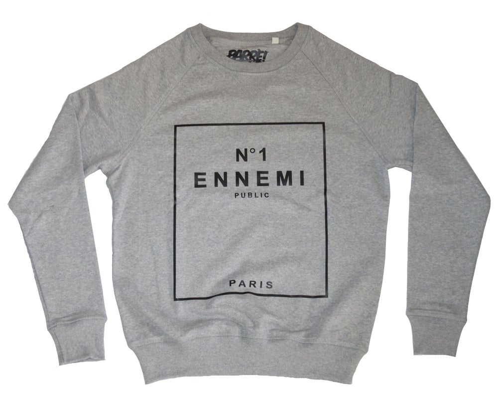 "Image of Crewneck ""ENNEMI PUBLIC"" grey"