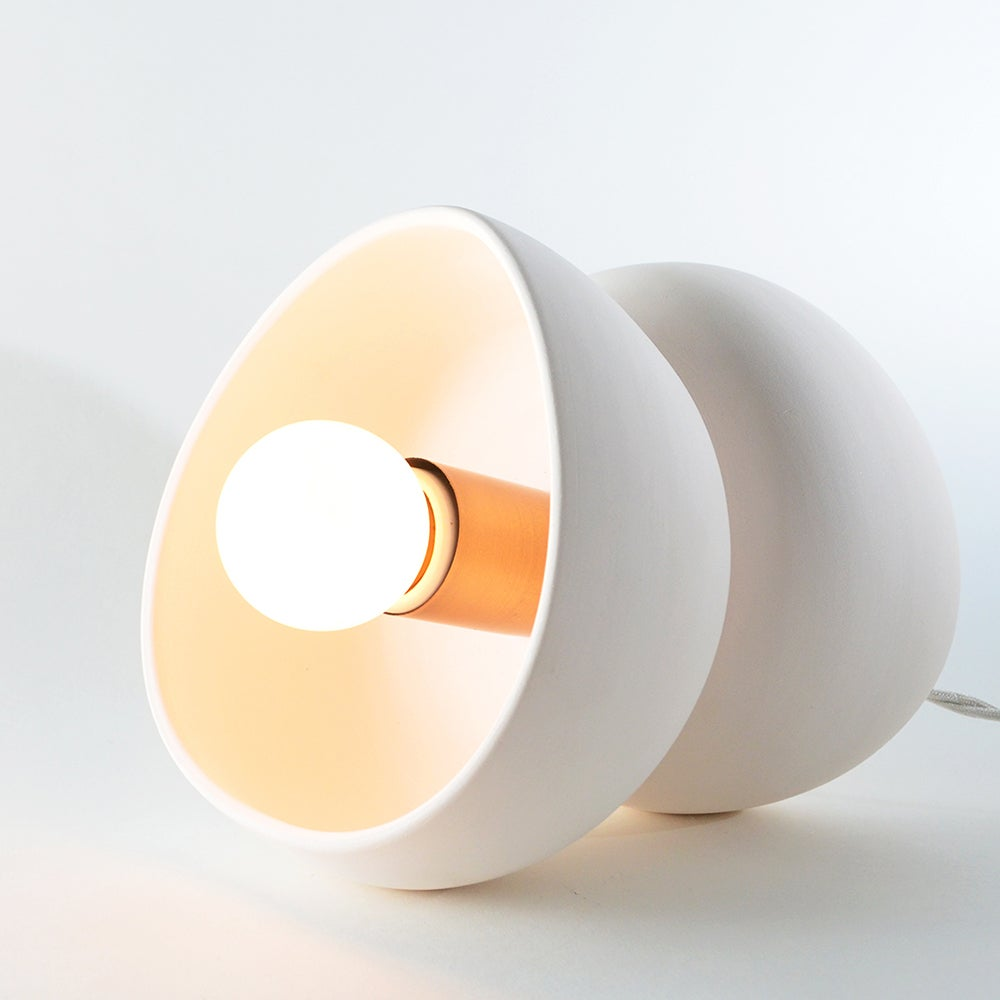 Image of porcelain bisque light