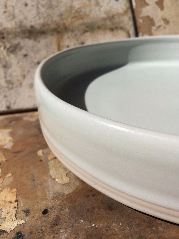 Image of Plain Pale Porcelain Plate