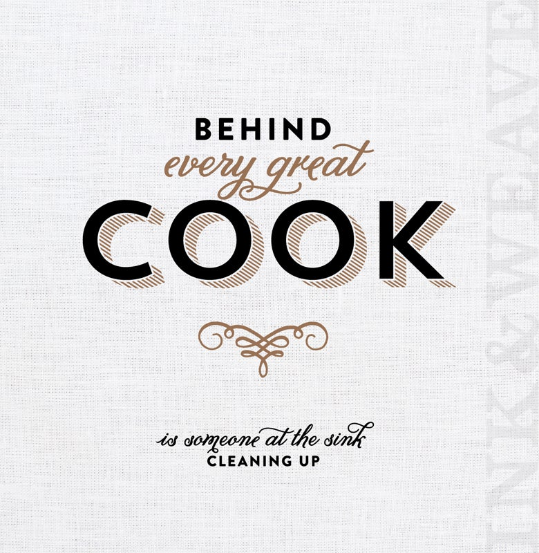 Image of behind every great cook