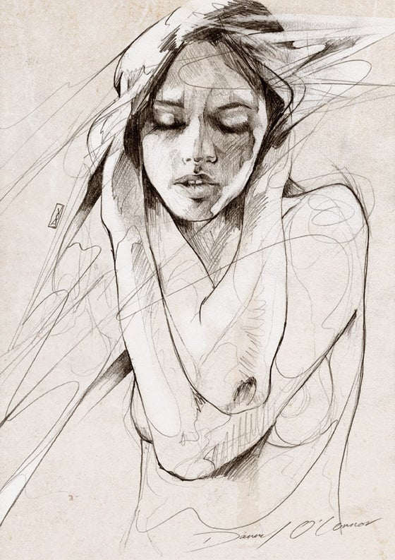 "Image of ""Figure Sketch"" OPEN EDT PRINT on 315gsm 100% Cotton Rag Paper"