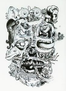 Image of Skull - Inktober 2013 (original ink drawing)