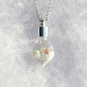Image of Winter Necklace on Sterling Silver Chain, Terrarium Pendant