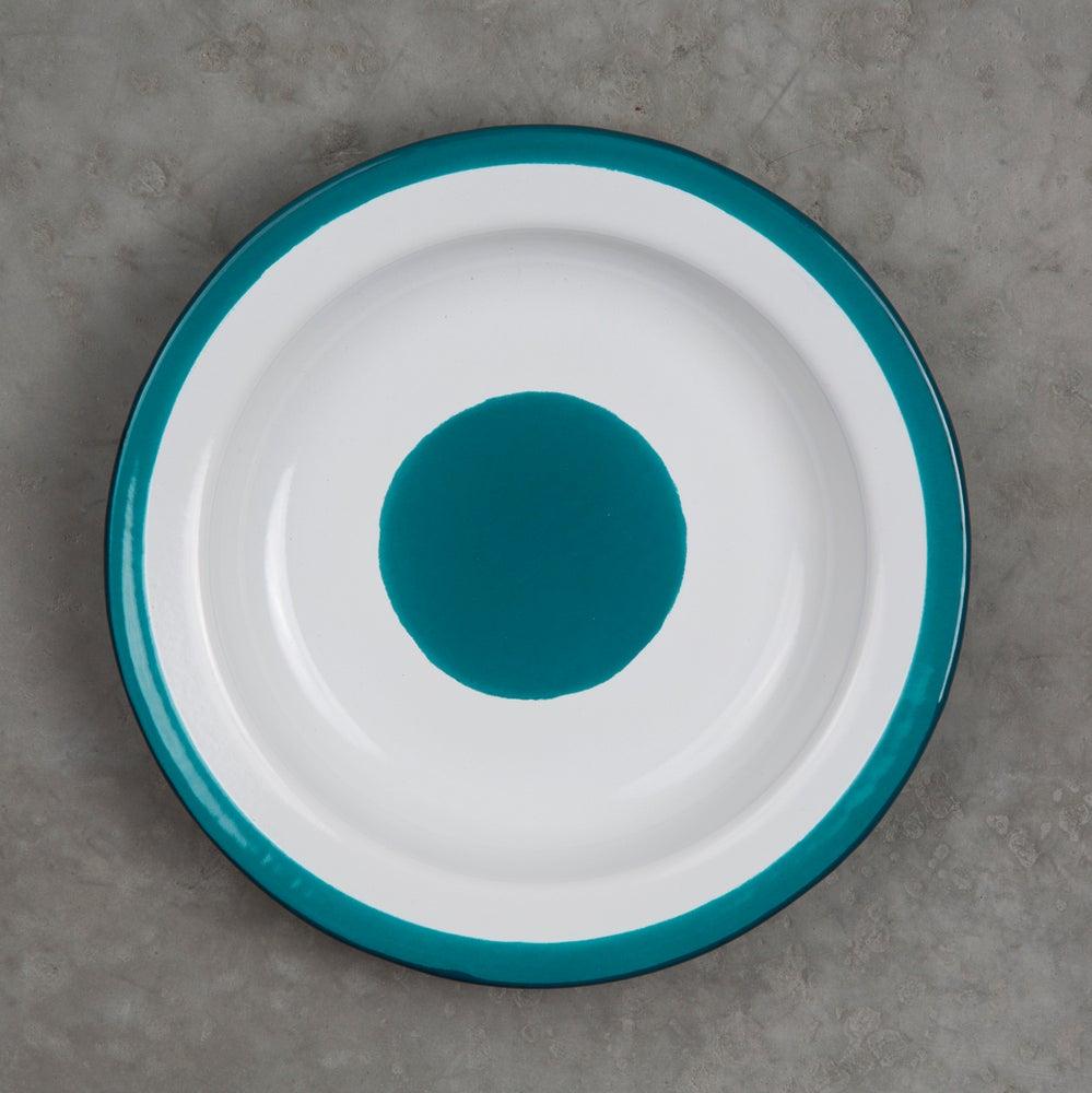 Image of Deep Enamel Plate BLUE DUCK 22cm