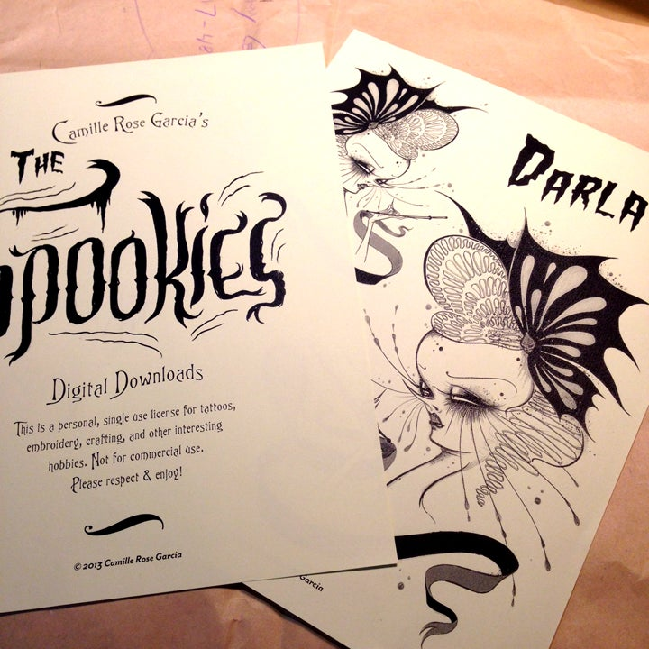 "Image of ""The Spookies"": Set of 5 Digital Download Designs"