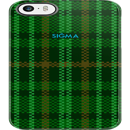 "Image of ""PLAID"" iPhone 5 Case [Green]"