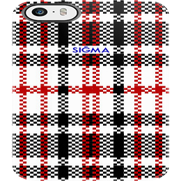 "Image of ""PLAID"" iPhone 5 Case [Red]"