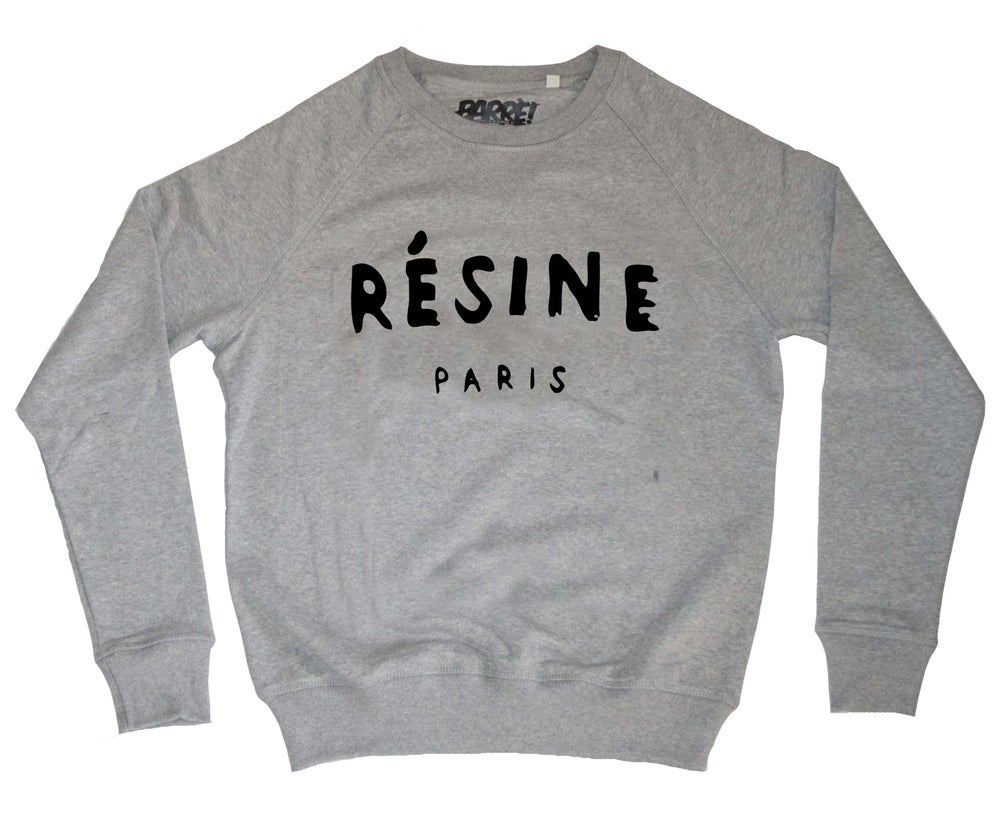 "Image of CREWNECK ""RÉSINE"" GREY"